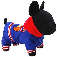 Dimart Blue Fashion Sports Style Pet Dog Puppy Clothes ALL STAR Pattern For Dog Puppy (S)