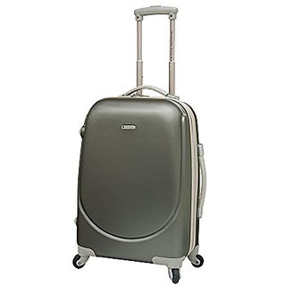 Travelers Polo & Racquet Club Barnet 20 Inch Expandable Carry-On Spinner, Silver, One Size
