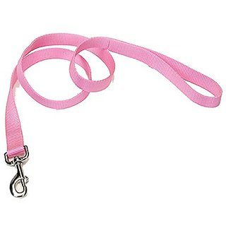 Coastal Pet 00906 B PKP06 Nylon Leash, 1 by 6-Inch, Pink