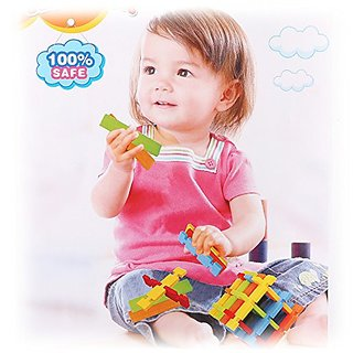 Wishtime Little Architect 120 Pieces Construction Building Blocks Learning and Activity Toys for Kids