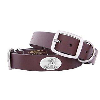 Zep-Pro Alabama Crimson Tide Brown Leather Concho Dog Collar, X-Large