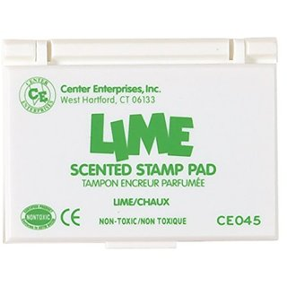 Center Enterprise CE045 Lime Scented Stamp Pads, Green