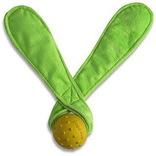 Doggles Green Ears Yellow Ball Dog Toy