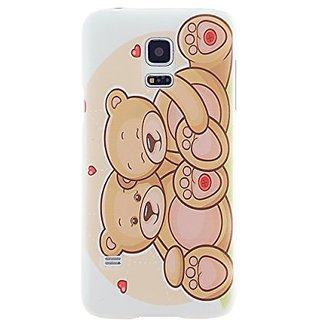CaseBee - Love Teddy Bears Samsung Galaxy S5 mini SM-G800 case - Perfect Gift (Package includes Screen Protector)