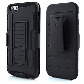 iPhone 6/6S Plus Case,3-in-1 Combo Holster Case Heavy Duty Rugged Soft Silicone Dual Layer Armor Stand Case with Locking
