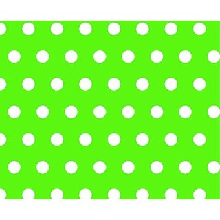 SheetWorld Round Crib Sheets - Polka Dots Lime - Made In USA