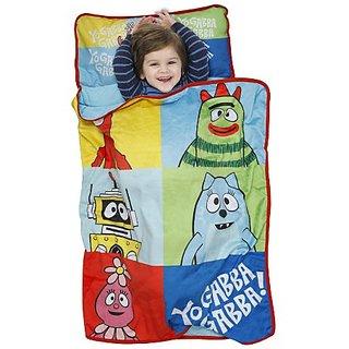 Nickelodeon Yo Gabba Gabba Nap Mat - Brobee Muno Slumber Roll-Pillow Set