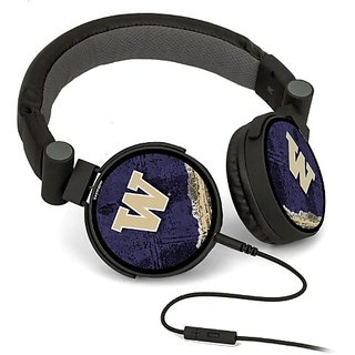 Washington Huskies DJ Style Headphones officially licensed by the University of Washington On Ear Style Clear Crisp Soun