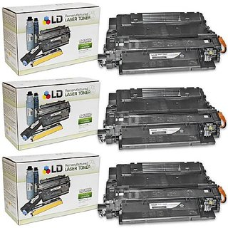LD © Remanufactured Replacement Laser Toner Cartridges for Hewlett Packard CE255A (HP 55A) Black (3 Pack) for use i