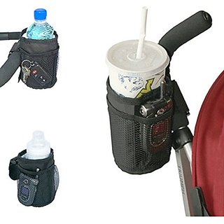Universal Insulated Stroller and Car Seat Cup Holder and Storage Organizer with Built In Insulation by Luvit
