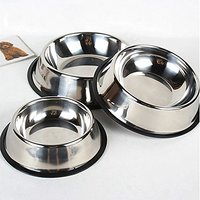 Sweet Nana 160-OZ Pet Cuisine Stainless Steel Bowls Dog Cat Anti Slip Food Water Dishes,each Size Offer
