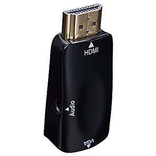 HDMI to VGA,Autvivid 1080P HDMI to VGA Adapter Video Converter with 3.5mm Audio Port Cable for PC/Laptop/DVD/PS3/