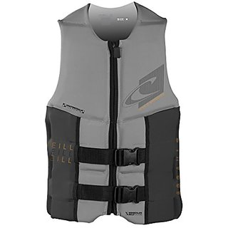 ONeill Wetsuits Wake Waterski Mens Assault USCG Vest, Flint/Graphite, X-Large