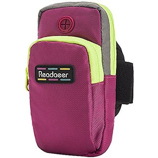 Readaeer Portable Outdoor Sports Running Cellphone Mobile Phone Armband Arm Bag Case Holder Pouch for iPhone 6,6S,Galaxy