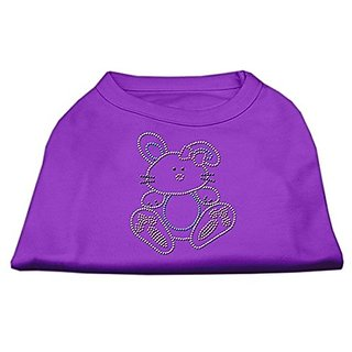 Mirage Pet Products Bunny Rhinestone Dog Shirt, X-Large, Purple