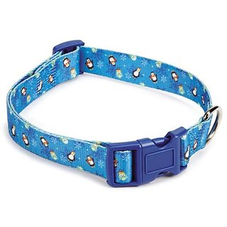 Casual Canine North Pole Pals Pet Collar, 6 to 10-Inch, Blue