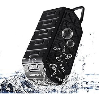 Sunvito Portable Bluetooth 4.0 Speaker,Waterproof Speaker with MIC,Enhanced Bass with 6W Audio Output from Dual 3W Drive