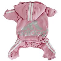 Scheppend Adidog Pet Clothes For Dog Cat Puppy Hoodies Coat Winter Sweatshirt Warm Sweater,Pink Small