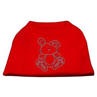 Mirage Pet Products Bunny Rhinestone Dog Shirt, XX-Large, Red