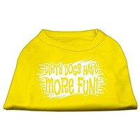 Mirage Pet Products Dirty Dogs Screen Print Shirt Yellow XL (16)
