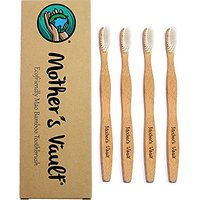 Mothers Vault Biodegradable, Eco-Friendly Bamboo Toothbrush W/ BPA-Free Soft Nylon Bristles - Natural Dental Care For Me