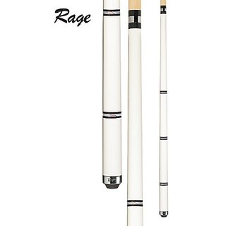 Rage RG98 Graphic Pearl White with Black and Silver Bands Cue, 20-Ounce