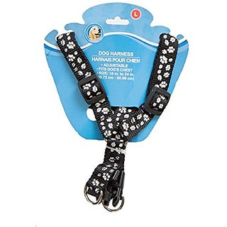 Adjustable Paw Print Dog Harness - For Small to Large Dogs - Buckle Secure - Easy Put On/take Off - Comfortable Design