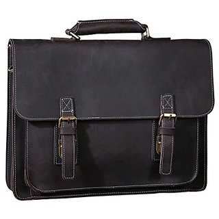 Sellse Mens Leather Briefcase Shoulder Messenger Bag 15