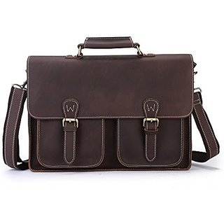 Sellse Mens Leather Briefcase Messenger Bag Laptop Tote Bags