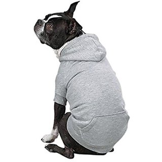 Zack & Zoey Polyester Fleece Lined Dog Hoodie, X-Large, Gray