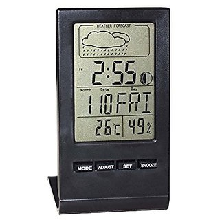EverPlus Humidity Meter, Digital Clock And Weather Station With Thermometer, Hygrometer, Temperature/Humidity Meter Gaug