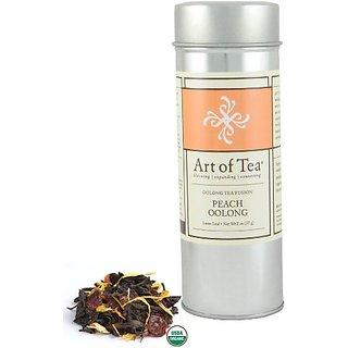 Art of Tea Organic Peach Oolong Loose Leaf Tea - 2oz Tin