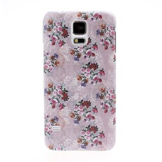 Diebell-- Small Fresh Florals Flowers in Purple Hard Case for Samsung Galaxy S5 I9600