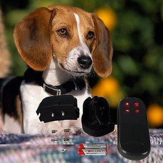 ElementDigital(TM) Lovely 4in1 Waterproof Safe Electronic Shock Viberating Dog Training Collar with Remote Control