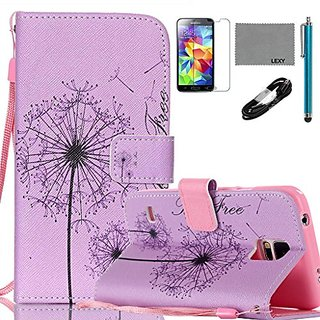 Samsung Galaxy S5 Mini Case, LEXY PU Leather Case with Credit ID Cards Holders & Stand for Samsung Galaxy S5 Mini with 9