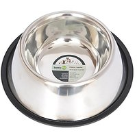 Iconic Pet 8-Cup Non-Skid Stainless Steel Dog Bowl, 64-Ounce