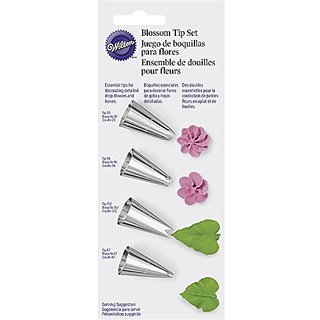 Wilton 418-9613 4 Piece Flower Icing Tip Set