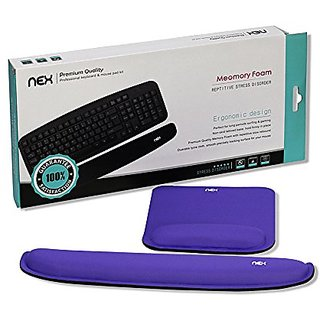 Nex Mouse Mat with Wrist Rest Pad Keyboard Mouse Pad Memory Foam Non-Slip Coating Stress Disorder Pads Kit for Surfing a
