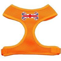 Mirage Pet Products Bone Flag UK Screen Print Soft Mesh Dog Harnesses, Large, Orange