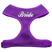 Mirage Pet Products Bride Screen Print Soft Mesh Dog Harnesses, Medium, Purple