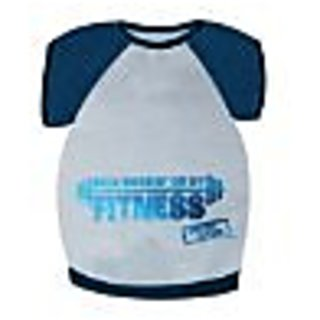 MTVs Jersey Shore Dog Shirt, Been Workin On My Fitness, Blue, X-Small