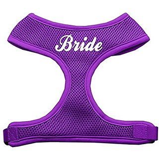 Mirage Pet Products Bride Screen Print Soft Mesh Dog Harnesses, Medium, Purple