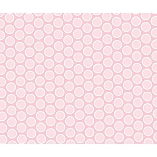 SheetWorld Crib Sheet Set - Pastel Pink Bubbles Woven - Made In USA