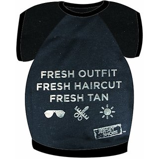 MTVs Jersey Shore Dog Shirt, Fresh..., Black, Small