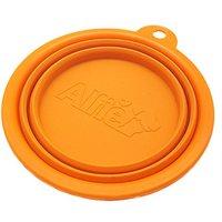 Alfie Pet By Petoga Couture - Ros Silicone Pet Expandable/Collapsible Travel Bowl - Size: 1.5 Cups, Color: Orange