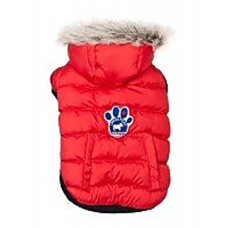 Canada Pooch North Pole Parka, Red, Size 24