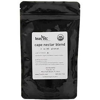 Teas Etc Cape Nectar Organic Loose Leaf Rooibos and Honeybush Blend 3 oz.