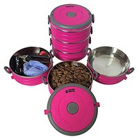 Stainless Steel Travel Dog Pet Bowl - Portable Food & Water Dog Bowls Set - 3 Size & 3 Color Options By Healthy Human
