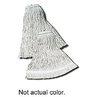 Impact 12124 Layflat Screw Type Cut End Cotton Wet Mop Head, Regular, 24 oz, White (Case of 12)