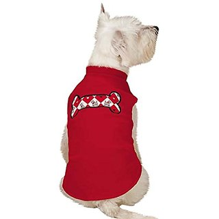 Zack & Zoey Sweet Scottie Fleece Vest, Medium, Red